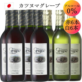 シャトー勝沼 カツヌマ グレープ 赤 6 白 6 合計 12本セット 720ml ワイン ノンアルコール ワイン 送料無料 c