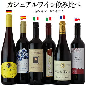 カジュアル ワインセット ジ・アクアヴィタエ デイリー ワイン 6本セット フランス イタリア スペイン ドイツ チリ 世界の ワイン 飲み比べ