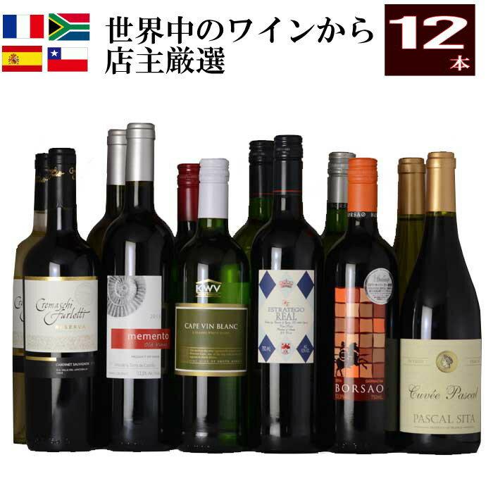 店主超厳選本格 デイリー ワイン 12本 フランス スペイン チリ 南アフリカ ワインセット