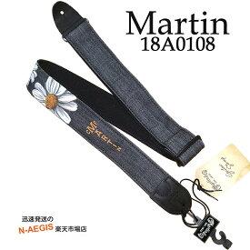 マーチン純正 デニム生地 ギターストラップ デイジー Martin 18A0108 DENIM STRAP DAISY【RCP】【P2】