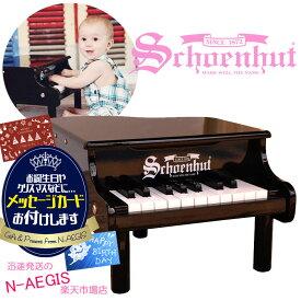 【メッセージカードをプレゼント!】シェーンハット 18鍵盤 ミニグランドピアノ ブラック 18-Key Black Mini Grand Piano 189B Schoenhut トイピアノ クリスマスプレゼント、お誕生日プレゼントに♪男の子向け 女の子向け おもちゃ【RCP】Xmas