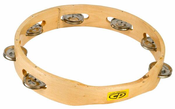 """【お取寄商品】LP CP389/CP-389 タンバリン Tambourine Headless, 10"""" Single Row Jingles ラテンパーカッション【RCP】"""