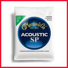【メール便発送商品】MARTIN/マーチン 弦 MSP-4000(MSP4000)×1セット アコースティックギター弦 エクストラライトゲージ【RCP】【P2】