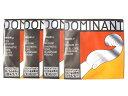 【メール便等での配送】バイオリン弦 ドミナント EADG線セット(E線:No.130 スチール/アルミ巻・ボールエンド)Dominant 3/4 THOMAST...