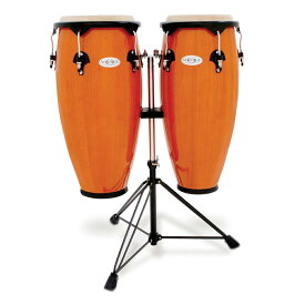 TOCA/トカ Toca Products Congas SYNERGY SERIES Synergy Wood Conga Set with Stand 2300AMB Synergy 10+11inch w/Double Stand-Amber☆コンガ スタンダード アンバー Percussion パーカッション 2300-AMB【RCP】【P2】