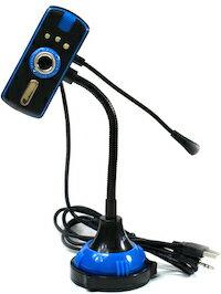 DCMR WEB CAM ウェブカメラ ウェブカム HD画質 1000万画素 CMOS マイク 付き (ブルー) 暗いところで便利 3個 の LEDライト 付き