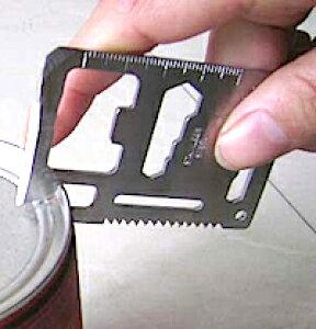 DCMR サイクル&アウトドア 11 種類 の 機能 搭載 コンパクトカード 型 サバイバル マルチ ツール ( 定規 のこぎり 缶切り 栓抜き ナイフ ドライバー 方向指示 )