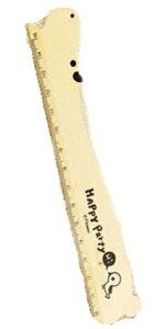 DCMR 文具 木 の 風あい 漂う かわいい 動物 の 定規 ナチュラル カーブ が 可愛い 自然 の 香り 【カバ】15cm