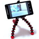 DCMRCameraカメラ用三脚携帯電話の固定携帯電話iPhoneスマートフォンCAMERATRIPODトライポッドコンパクト軽量旅行に便利!!グニャグニャ自由自在の足柱木枝机上にどこでも固定お楽しみカラー