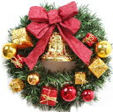 DCMR メリー クリスマス リース 35cm 幸せの 大きな 鈴 リボン 飾り オーナメント たくさん クリスマス リング ツリー