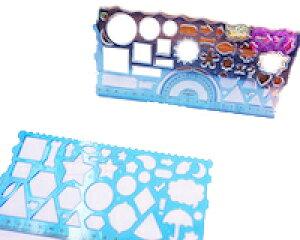 DCMR デザイン お絵かき 定規 くるくる 輪 を 鉛筆 で 描く 図形 分度器 お楽しみカラー 2種類セット