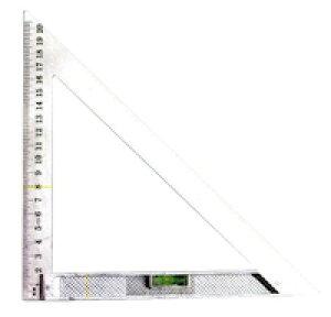 DCMR 20cm 薄手 丸ノコガイド 三角 直角 定規 水平器 付き DIY 大工 仕事