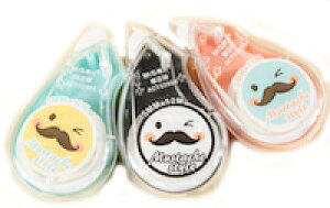 DCMR 【 1 点 】 修正テープ キャラクター ひげ 髭 デザインポップ お楽しみカラー