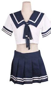 DCMR セーラー服 (靴下含まず) ベーシック 夏服 スタイル コスプレ 誘惑 の 香り 漂う 高校生 スタイル