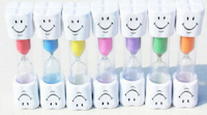 DCMR キッズ 歯ブラシ 歯磨き タイマー 砂時計 【 3 分 】 キッチン タイマー 子供も 楽しく 【1点 お楽しみ カラー】