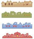 DCMR 文具 【 1 点 お楽しみカラー柄 】世界 の 町並み 定規 ルーラー ポップ ナチュラル カラー シンプル イギリス …