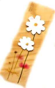 DCMR 【 1点 】 白 野菊 花 クリサンセマム 付箋 机を彩る フラワー デコレーション 植物 プランター ステーショナリー メモ 帳 パッド