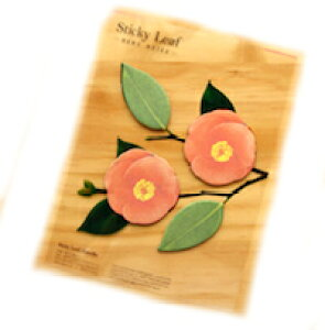 DCMR 【 1点 】 サザンカ 赤 花 付箋 机を彩る フラワー デコレーション 植物 プランター ステーショナリー メモ 帳 パッド