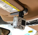 DCMR カメラ GoPro 用 車 サンバイザー 固定 スタンド 雲台 付き【 小 ;耐荷重;0.25kg 】