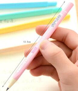 DCMR 文具 鉛筆 【1本 ホワイト】 三角 持ち方 グリップ 0.5 mm ロング 芯 鉛筆 シャープ ペンシル 折れにくい プッシュ 自動 芯 送り出し ポップ カラー