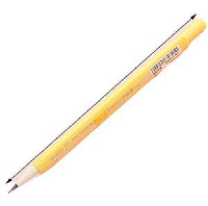 DCMR 文具 鉛筆 【1本 イエロー】 三角 持ち方 グリップ 0.5 mm ロング 芯 鉛筆 シャープ ペンシル 折れにくい プッシュ 自動 芯 送り出し ポップ カラー