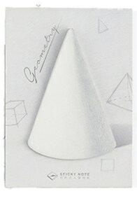 DCMR 文具 【1点 円錐 】3D リアル 付箋 立体 図形 幾何学 箱 円錐 球 まるで 本物 机を飾る ステーショナリー メモ ノート