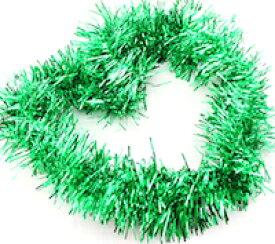 DCMR クリスマス 【グリーン】リース キラキラ パーティー モール フリフリ 飾り ボリューム感 Lサイズ 幅8CM 長2M 1点