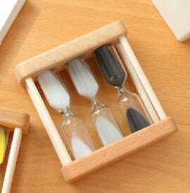 DCMR 生活 砂時計 歯磨き キッチン アナログタイマー 1分3分5分 1点 白黒