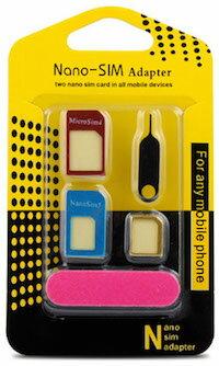 DCMR スマホ用品 金属 SIM 下駄 マルチ シム サイズ 変換 アダプター mini nano 標準 1点