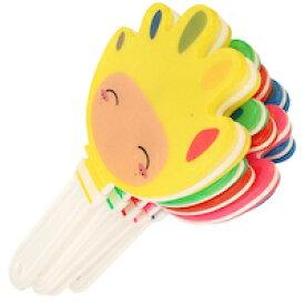 DCMR おもちゃ ハンディー カスタネット 応援 クラップ スティック ハンド パチパチ 拍手 【お楽しみカラー】 1点