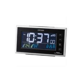 リズム時計工業【シチズン】パルデジットネオン121★電波めざまし時計【8RZ121-002】