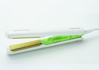 Style rush mini portable ceramic hair straighteners SR-103AN (green)