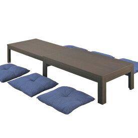 ロングN 120×75 ファミリーテーブル (WN/WEN/NA) W1200〜2255×D750×H400/370mm 【送料無料】