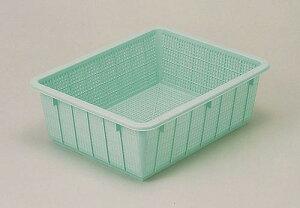 トンボ 抗菌カラー角ざる54型 グリーン