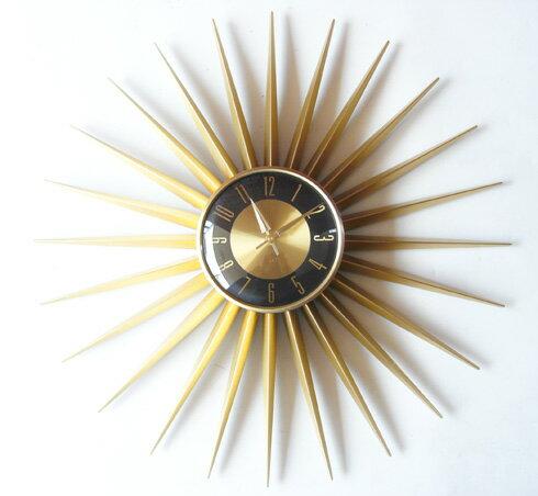 エミッツタイム emits time ミッドセンチュリー 時計 壁掛け ゴールド レトロ