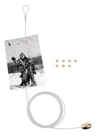 フォトフレーム ケーブルフォトホルダー Cable Photo Holder ホワイト(フォトフレーム 壁掛け ワイヤー)