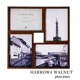 フォトフレーム ハロウ4 HARROW4 WALNUT L版 写真立て 複数 壁掛け スタンド兼用
