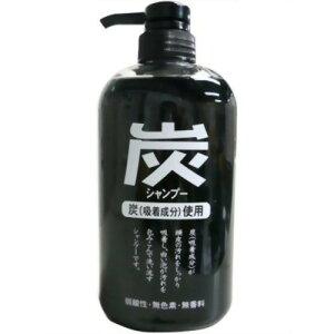 純薬 炭シャンプー ポンプ 600mL ジュン・コスメティック
