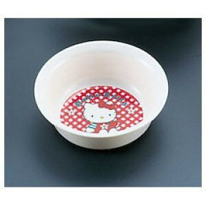 【全品P5〜10倍】メラミンお子様食器「ニューキティ」 丸小鉢 ギンガム RKBK5