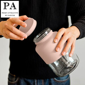 【全品P5〜10倍】PA ボトル型キャニスター L(1500ml) Pink スモーキーピンク くすみカラー 湯せん不可 見せる収納 コーヒー豆 紅茶 グラノーラ 調味料 ピーエー 双葉塗装