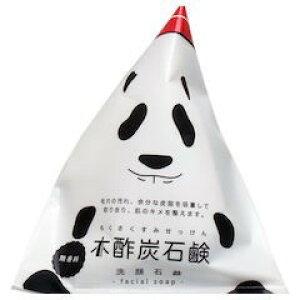 【全品P5〜10倍】木酢炭石鹸 無香料 泡立てネット付 120g