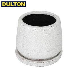 DULTON GLAZED POT ROUND WHITE XS 【品番:K655-851XSWT】 ダルトン インダストリアル アメリカン ヴィンテージ 男前 グレイズドポット ラウンド ホワイト XS