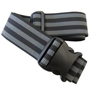 ゴムの力で脱着簡単! ストレッチフィット スーツケース ベルト TM ブラック