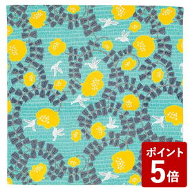 【P5倍】山田繊維 むす美 風呂敷 こはれ ハチドリ グリーン 70cm 21414-205