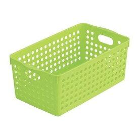 ストックバスケット ワイド グリーン 29.3×16.6×11.5cm 4571 イノマタ化学
