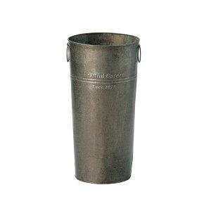 GREENHOUSE アンティークブリキバケツ 筒型 M 2529-B ちどり産業