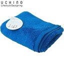 UCHINO フェイスタオル とってもよく吸う ごくふわ 34×80cm ブルーグリーン 8814F711 BG