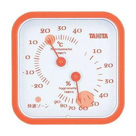 【全品P5〜10倍】タニタ(TANITA) アナログ温湿度計 置き掛け両用タイプ/マグネット付 オレンジ TT-557-OR