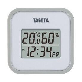 【全品P5〜10倍】タニタ(TANITA) デジタル温湿度計 置き掛け両用タイプタイプ/マグネット付 グレー TT-558-GY