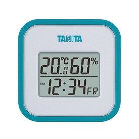 【全品P5〜10倍】タニタ(TANITA) デジタル温湿度計 置き掛け両用タイプタイプ/マグネット付 ブルー TT-558-BL